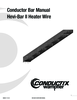 Manual - Conductor Bar, Hevi-Bar II Heater Wire
