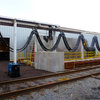 Picture of a Rail car dumper positioner system, powered by Conductix-Wampfler festoon system