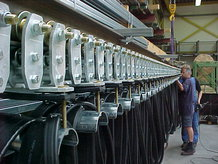 Power supply transfer car in sandlime brick factory