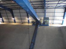 Reclaimer in a fertilizer storehouse