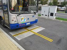 Electric Bus in Turin, Italy, with wireless battery charging system  IPT<sup>®</sup>-Charge