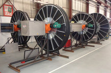 Motor driven reels for the Tulachermet Steel Company
