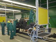Final assembly of tractors