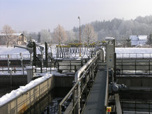 Rectangular Scraper Bridges in a Wastewater Treatment plant