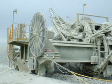 A Motor-Driven Cable Reel in use on a Stacker & Reclaimer